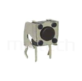 HTS-06RV Series-輕觸開關-6x6mm,DIP式,側按 固定支架,Horizontal水平側邊輕觸開關Tact Switch
