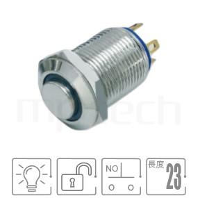 MP12-4MH Series-帶燈金屬按鈕|防水、防塵、耐腐蝕,Φ12 開孔尺寸,1NO,自複,高圓形,照光金屬按鈕,自復式回彈,高圓柄,多種顏色可選,環形燈,天使眼開關,帶燈金屬按鈕開關,pbm12,cmp,bpb,mp12n,ft-12,lb12b,qn12,