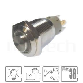 MP16-5MH Series-LED帶燈照光金屬開關,雙向極性,LED正反可接-IP/IK防護,,16mm尺寸,1NO1NC1COM,無鎖復位,高柄,帶燈金屬開關,燈色任選,環形帶燈,高平面環形燈平面GQ16,LAS2GQ,pbm16,cmp,bpb,J16,MPB16,HK16B,HKYB16B,mp16n,ft-16,lb16b,qn16,材質-黃銅鍍鎳,不鏽鋼,鋁合金,復歸 自復位防水/防塵/防化學腐蝕| MP16TECH提供您最完整的防水金屬按鈕開關產品與服務