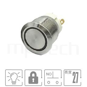 MP19S-4ZF Series-天使眼短款帶燈金屬按鈕開關|防水/防塵,短型,開孔MP19S-4ZF Series-帶燈金屬按鈕開關,LED雙晶片無極性無方向性-IP/IK防護,短款,小型化,19mm,常開1NO,lock,平面,指示燈開關,六種LED燈色可選,內含限流電阻,環型,平面環形燈平面同等於GQ19,LAS1-BGQ,LAS1-AGQ,LAS1GQ,pbm19,J19,EJ19,cmp,bpb,MPB19,MPS19,MW19,HK19B,HKYB19B,mp19n,ft-19,lb19b,qn19,材質-黃銅,鋁合金,不銹鋼,有鎖防水、防破壞、耐腐蝕| MP16TECH提供您最完整的防水金屬按鈕開關產品與服務Φ19mm,1NO,自鎖,平圓型,照光金屬按鈕,LED六種燈色可選-紅、綠、藍、白、橘、黃,環狀,平面環形燈
