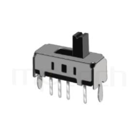 SS-13D01 Series-滑動開關-滑動開關1P3T,SP3T迴路,Vertical Slide Switch ,立式滑動開關