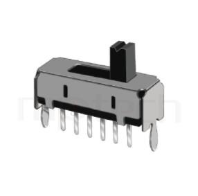 SS-14D01 Series-滑動開關-滑動開關1P4T,SP4T迴路,滑動開關Slide Switch