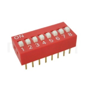 DIP-RS 系列-指撥開關DIP Switch ,DIP-RS Series ,Pitch 2.54mm, 01~12 Positions,DIP