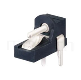 HDC-526 系列-DC電源插座DC JACK ,90度 90° DIP ,Center pin Ø1.0 / Ø1.3 mm 中心針 Ø1.0 / Ø1.3 mm ,外圓 孔徑 ,L 11 x W 5 x H 7.3 ,板上高度7.3 mm