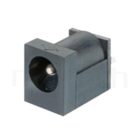 HDC-522 系列-DC電源插座DC JACK ,90度 90° DIP ,Center pin Ø1.3 mm 中心針 Ø1.3 mm ,外圓 孔徑 5 ,L 11 x W 6 x H 5 ,板上高度 5mm