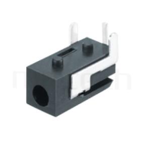 HDC-582 系列-DC電源插座DC POWER JACK ,90度 90° DIP ,Center pin Ø0.65 mm 中心針 Ø0.65 mm ,外圓 孔徑 2.7 ,L 11 x W 5 x H 5 ,板上高度 5mm