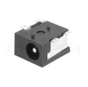 HDC-584 系列-直流電源插座DC POWER JACK ,90度 90° SMD ,Center pin Ø1.3 / Ø1.65 mm 中心針 Ø1.3 / Ø1.65 mm ,外圓 孔徑 3.8 ,L 9 x W 8 x H 5.3 ,板上高度 5.3mm