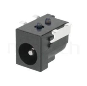 HDC-591 系列-DC電源插座DC POWER JACK ,90度 90° SMD ,Center pin Ø2.0 / Ø2.5 / Ø3.0 mm 中心針 Ø2.0 / Ø2.5 / Ø3.0 mm ,外圓 孔徑 6.5 ,L 15 x W 9 x H 11 ,板上高度 11mm