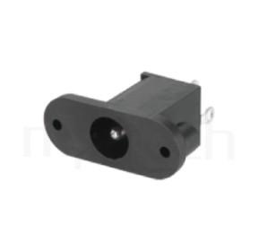 HDC-620 系列-直流電源插座DC JACK ,180度 180° DIP ,Center pin Ø2.0 / Ø2.5 mm 中心針 Ø2.0 / Ø2.5 mm ,外圓 孔徑 6.4 ,L 13x W 9 x H 23