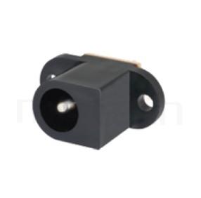 HDC-621 系列-DC電源插座DC JACK ,180度 180° DIP ,Center pin Ø2.0 / Ø2.5 mm 中心針 Ø2.0 / Ø2.5 mm ,外圓 孔徑 6.3 ,L 13x W 9 x H 20 ,板上高度 20mm