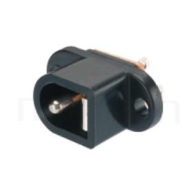 HDC-626 系列-直流電源插座DC POWER JACK ,180度 180° DIP ,Center pin Ø2.0 / Ø2.35 / Ø2.5 mm 中心針 Ø2.0 / Ø2.35 / Ø2.5 mm , ,L 11x W 9 x H 20 ,板上高度 20mm