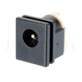 HDC-636 系列-DC電源插座DC JACK ,180度 180° DIP ,Center pin Ø2.0 / Ø2.5 / Ø3.0 mm 中心針 Ø2.0 / Ø2.5 / Ø3.0 mm ,外圓 孔徑 6.4 ,L 13x W 13 x H 15 ,板上高度 15mm