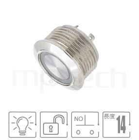 MP16T-4MF Series-照光式LED金屬按鈕,雙極性LED-IP65以上防水等級,扁型,Φ16mm,1NO一組常開接點,自復回彈,平面, 帶燈 照光式 LED發光金屬開關 LED 燈色, 燈壓5V 6V 12V 24V 110V 220V LED帶燈,環形燈,平面環形燈平圓型GQ16,LAS2GQ,pbm16,cmp,bpb,mp16n,ft-16,lb16b,qn16,J16,EJ16,MPB16,HK16B,HKYB16B,材質-不鏽鋼SUS,金屬外殼,自復回彈-IP/IK防護  MP16TECH提供您最完整的防水金屬按鈕開關產品與服務