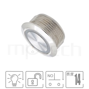 MP19T-4MF Series-短小型薄形照光金屬開關-IP/IK防護,超短,19mm孔徑,一組常開接點1NO,復歸,平面,照光金屬開關,防塵防水防化學腐蝕,薄、短,19mm孔徑,一組常開接點1NO,自復回彈,平圓型,LED燈金屬開關,LED帶燈,六種燈色可選,光圈金屬帶燈,平面環形燈平圓型對照於MPB19,MPS19,MW19,HK19B,HKYB19B,pbm19,cmp,bpb,mp19n,J19,EJ19,ft-19,GQ19,LAS1-BGQ,LAS1-AGQ,LAS1GQ,lb19b,qn19,材質-不鏽鋼,黃銅鍍鎳,鋁合金,無段復位防水、防破壞、耐腐蝕| MP16TECH提供您最完整的防水金屬按鈕開關產品與服務