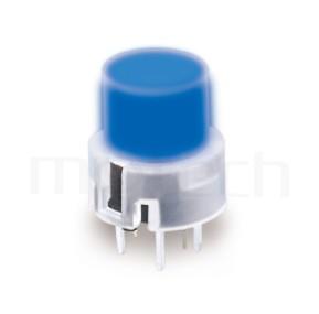 PB-210 系列-帶燈輕觸開關LED Tact Switch ,圓形鍵帽,立式,DIP ,小型帶燈 ,尺寸 12X12 , 版上高度12.8mm ,12X11.4 圓形帽蓋