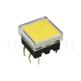 PB-212+CAP 系列-帶燈輕觸按鈕開關Illuminated Push Button ,方形鍵帽,立式,DIP ,全平面照光,另有色蓋可搭配 ,尺寸 13.4X13.4 , 版上高度8.9mm ,13.4X13.4正方形帽蓋