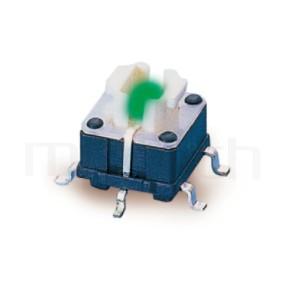 PB-414 系列-輕觸帶燈開關Illuminated Switch ,無鍵帽,立式,SMD ,可搭配帽蓋 ,尺寸 6.8X6.8 ,版上高度7mm ,4x3.6 按鍵面