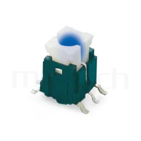 PB-415 系列-LED輕觸開關LED Tact Switch ,無鍵帽,立式,SMD ,可搭配帽蓋 ,尺寸 6X6 ,版上高度9mm ,5.2x4.5 按鍵面