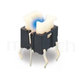PB-506 系列-LED輕觸開關LED Tact Switch ,無鍵帽,立式,DIP ,可搭配帽蓋 ,尺寸 6x6,版上高度7.2mm ,6x4.5 按鍵面