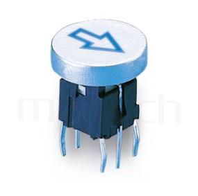 PB-520-11A 系列-輕觸帶燈開關Illuminated Switch ,圓形鍵帽,立式,DIP ,7PIN,layout 5.08,5.4 ,双色雙色輕觸開關LED tact switch,紅藍雙色LED,紅綠雙色LED,輕觸LED按鈕,尺寸 Φ10鍵帽 10mm帽蓋, 6x6,版上高度10mm ,Φ10 帽蓋 10mm鍵帽