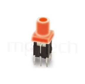 PB-520-64 系列-帶燈開關 Illuminated Pushbuttons ,圓柱形鍵帽,立式,DIP ,双色雙色輕觸開關LED tact switch,紅藍雙色LED,紅綠雙色LED,輕觸LED按鈕,7PIN,layout 5.08,5.4 ,尺寸 6x6,版上高度15.8mm ,8.2長鍵帽, 圓柱形帽蓋