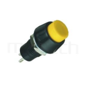 PS-002 系列-復歸按鈕開關Momentary Push button Switch,圓形, 螺母固定,復歸/無鎖/回彈/無段 ,OFF-(ON),SPST,1P1T迴路 ,總長度31mm