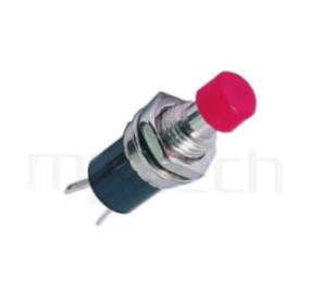 PS-003 系列-塑膠按鈕開關Push button ,圓形, 螺母固定,復歸/無鎖/回彈/無段 ,OFF-(ON),SPST,1P1T迴路 ,總長度28mm