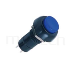 PS-004 系列-塑膠按鈕開關Push button ,圓形, 螺母固定,復歸/無鎖/回彈/無段 ,OFF-(ON),SPST,1P1T迴路 ,總長度38mm