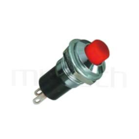 PS-005 系列-復歸按鈕開關Momentary Push button Switch,圓形, 螺母固定,復歸/無鎖/回彈/無段 ,OFF-(ON),SPST,1P1T迴路 ,總長度23mm