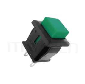 PS-101 系列-按鈕開關Push Switch ,方形,卡式,焊線,復歸/無鎖/回彈/無段 ,OFF-(ON),SPST,1P1T迴路 ,總長度24mm