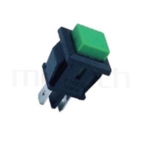 PS-102 系列-按鈕開關Push Switch ,方形,卡式,焊線,復歸/無鎖/回彈/無段 ,OFF-(ON),SPST,1P1T迴路 ,總長度26mm