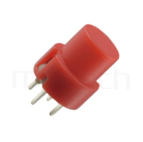 PS-202 系列-復歸按鈕開關Momentary Push button Switch,圓形,DIP插版,小型按鈕,復歸/無鎖/回彈/無段 ,OFF-(ON),SPST,1P1T迴路 ,版上高度10mm