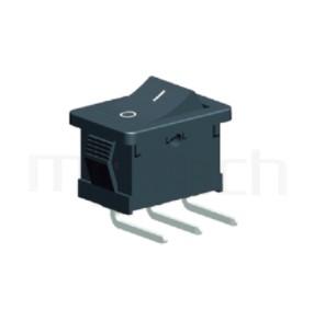 RS-601-10231NBB 系列-洛克開關Rocker Switch ,21x15mm ,90度彎腳 ,6A 250VAC, 10A 125VAC,ON-ON ,SPDT,1P2T迴路