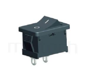 RS-601A-10121NBB 系列-洛克開關Rocker Switch ,21x15mm , ,6A 250VAC, 10A 125VAC,ON-OFF ,SPST,1P1T迴路