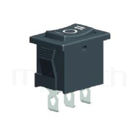 RS-601B-10314NBB 系列-翹板開關Rocker Switch ,21x15mm , ,6A 250VAC, 10A 125VAC,ON-OFF-ON ,SPDT,1P2T迴路