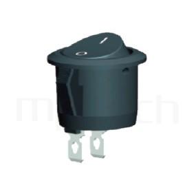 RS-601C-10111NBB 系列-翹板開關Rocker Switch ,23mm ,圓形 ,6A 250VAC, 10A 125VAC,ON-OFF ,SPST,1P1T迴路