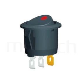 RS-601C-10116LBB 系列-翹板開關Rocker Switch ,23mm ,帶燈圓形 ,6A 250VAC, 10A 125VAC,ON-OFF ,SPST,1P1T迴路