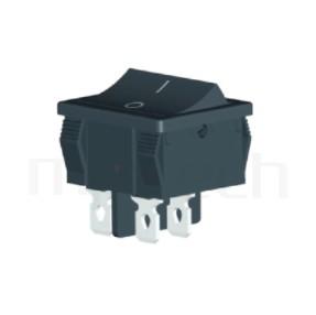 RS-601F-20111NBB 系列-翹板開關Rocker Switch ,24x21mm , ,6A 250VAC, 10A 125VAC,ON-OFF ,DPST,2P1T迴路