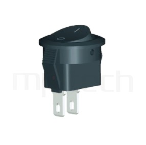 RS-601H2-10161NBB 系列-洛克開關Rocker Switch ,16.5mm ,圓形 ,3A 250VAC, 6A 125VAC,ON-OFF ,SPST,1P1T迴路