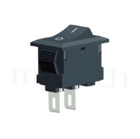RS-601HL-10111NBB 系列-翹板開關Rocker Switch ,15x10mm , ,3A 250VAC, 6A 125VAC,ON-OFF ,SPST,1P1T迴路
