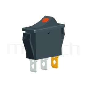 RS-606-10116LBB 系列-翹板開關Rocker Switch ,30x13mm ,帶燈 ,16A 250VAC,ON-OFF ,SPST,1P1T迴路