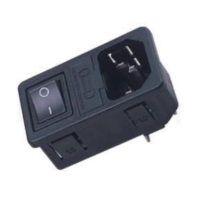 JR-101-1FRS-04-AC 系列產品-AC電源插座AC INLET ,IEC 60320 C14, AC 插座+保險絲+開關,三合一插座,3PIN焊線端子,180度,卡式,AC-023B DB-14-F3 DB-14-F4 R-3014S,AC INLET,安規VDE,CCC,UL,cUL,ENEC,
