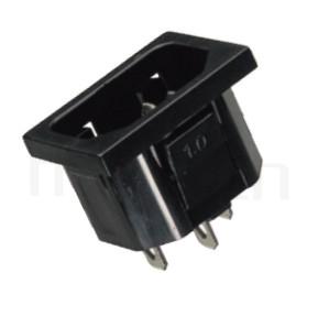 JR-101S-AC 系列產品-交流插座AC INLET/OUTLET ,IEC 60320 C14, AC 插座,3PIN焊線端子,180度,卡式,AC-011 AC-012 DB-14-2F R-301SN,AC INLET,安規UL,cUL,ENEC,VDE,CCC,