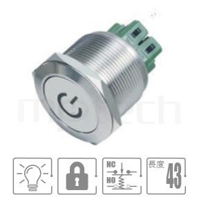 MP25-6ZP Series-照光式LED金屬按鈕,雙極性LED防水/防塵/防化學腐蝕,,Φ25mm開孔,1NO1NC,lock,平柄,LED照光金屬開關,六種燈色可選,電源logo,平面電源符號電源符號可對應於GQ25,J25,EJ25,KPB25,MPB25,MPS25,MW25,HK25B,HKYB25B,pbm25,cmp,bpb,mp25n,ft-25,lb25b,qn25,材質-鋁合金,不鏽鋼,黃銅,有段防水防暴安全防護| MP16TECH提供您最完整的防水金屬按鈕開關產品與服務