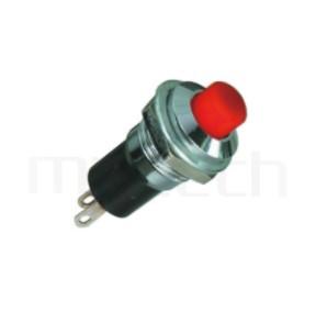 PS-305 系列-自鎖按鈕開關 lock Push button Switch,圓形, 螺母固定,自鎖/有段 ,OFF-ON,SPST,1P1T迴路 ,總長度28mm | PS-305系列