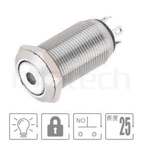 MP12-4ZA Series-帶燈金屬開關| 防水、防破壞,Φ12 開孔尺寸,1NO一組常開接點,自鎖,平面,照光金屬按鈕,中間單點發光發亮,LED六種燈色可選-紅、綠、藍、白、橘、黃,單點發光,點狀燈, 天使眼金屬按鍵按鈕開關,12mm尺寸,pbm12,cmp,bpb,mp12n,ft-12,lb12b,qn12, | MP16TECH提供您最完整的防水金屬按鈕開關產品與服務