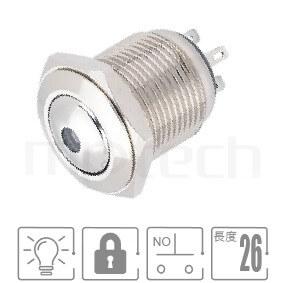 MP16-4ZD Series-照光金屬按鈕,雙向LED無極性防水、防破壞、耐腐蝕,短型,開關尺寸16mm,常開1NO,有鎖,球柄,LED帶燈按鈕開關,多種燈色可選,單點狀單點狀GQ16,LAS2GQ,pbm16,cmp,bpb,J16,MPB16,HK16B,HKYB16B,mp16n,ft-16,lb16b,qn16,材質-鋁合金,不鏽鋼,黃銅,兩段式-IP65以上防水等級| MP16TECH提供您最完整的防水金屬按鈕開關產品與服務