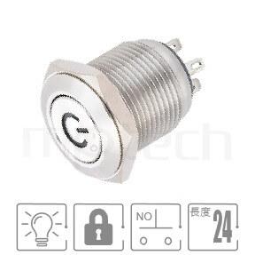 MP16-4ZP Series-LED帶燈照光金屬開關,雙向極性,LED正反可接-IP65以上防水等級,小型,短款開關,16mm尺寸,1NO,自鎖,平鈕, 帶燈 照光式 LED發光金屬開關 LED 燈色, 燈壓5V 6V 12V 24V 110V 220V LED帶燈,電源符號IO符號燈GQ16,LAS2GQ,pbm16,cmp,bpb,mp16n,ft-16,lb16b,qn16,J16,EJ16,MPB16,HK16B,HKYB16B,材質-不鏽鋼SUS,金屬外殼,自鎖型-IP65以上防水等級| MP16TECH提供您最完整的防水金屬按鈕開關產品與服務