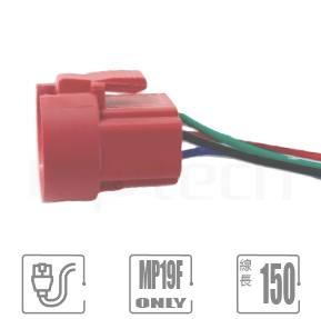 "TH-MP19F 連接器帶線材,連接器配件,MP19F-5 系列專屬配件,帶線長150mm,線徑22 AWG, 尾端剝線10mm,可用以延長;無須焊接,可直接插於MP19F系列金屬按鈕開關底部,聯接底部的開關端子腳,並具有卡勾可使聯接更加穩定而不輕易脫落。| MP16TECH提供您最完整的防水金屬按鈕開關產品與服務"""